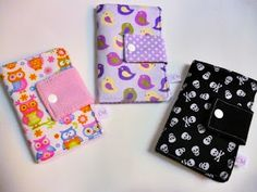 Costurices da Moreninha: Passo-a-passo carteirinha em tecido, super fácil!