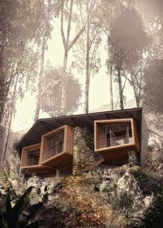 Dream home on a cliff, Tiny Houses - Cabins, Pool Houses, Small Homes for Sale