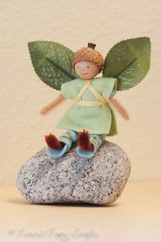 Acorn Boy fairy easy adaptation for elf for boy by Lenka at Forest Fairy Crafts
