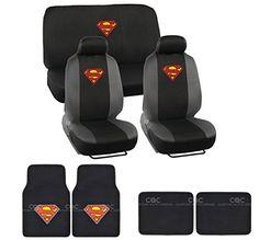 BDKUSA 15pc New Superman Car Seat Covers Set with Heavy Duty Carpet Floor Mats and Bonus Side Shades BDK http://www.amazon.com/dp/B00K3E3EEM/ref=cm_sw_r_pi_dp_yGaZvb0QGRPTQ