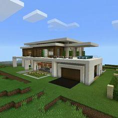 Vista de casa moderna modern house minecraft for Casas modernas minecraft 0 9 5