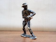 Vintage Plastic Toy Cowboy Cowboy with gun by GuestFromThePast