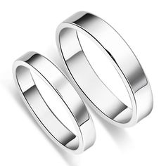Simple S925 Sterling Silver Mens Ladies Couple Promise Ring Wedding Bands Matching Set ,Best personalized gifts for him or her on Yoyoon.com