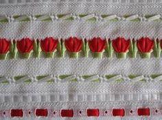 Resultado de imagem para toalhas de trançado de fitas