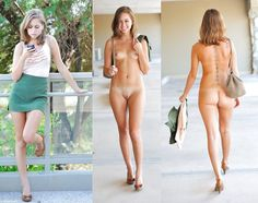 Teen girls clothed and naked