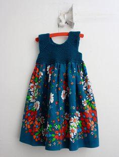 Kumaşla Örgü Kız Çocuk Elbise Modelleri ve Yapılışı 75 - Mimuu.com