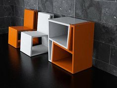 Bi Chairs from Elemento Diseno - I see side tables, coffee table, shelves...