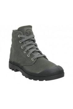 Palladium Pampa-Hi Stonewash Metal Colour Canvas Boots