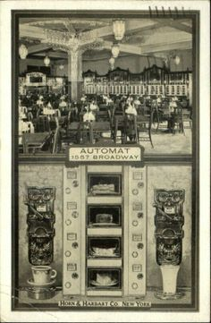 Horn and Hardart Automat Cafeteria on Broadway, New York