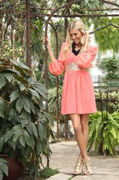 Wrapped in Sequins Dress Coral - Modern Vintage Boutique