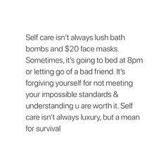 self care isn't...