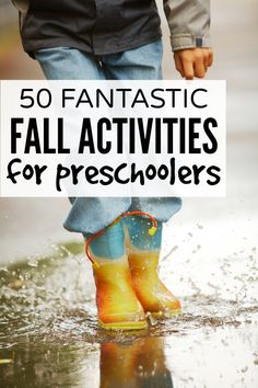 Looking for boredom busters to keep your kids busy when they aren't at preschool? Then you'll love this collection of 50 fantastic fall activities! Fall Preschool Activities, Outside Activities, Preschool At Home, Toddler Preschool, Educational Activities, Summer Activities, Toddler Activities, Learning Activities, Kid Activites