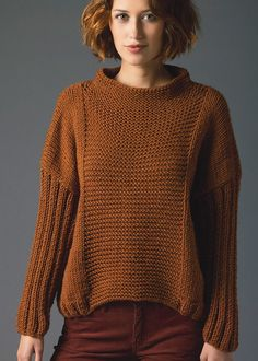 Free Knitting Pattern for Easy Pullover 4 rectangle pullover