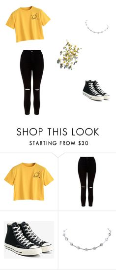 """Casual"" by monsicamacho on Polyvore featuring New Look and Converse"