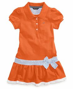 9f1126c2a9 Nautica Little Girls' Pique Polo Dress Dresses Kids Girl, Cute Baby  Clothes, Lane