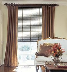 Elegant Curtain With Blinds