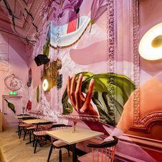 Street Artists Transform Eindhoven's Monumental Thomas Gall With Photorealistic Graffiti Art Architecture Restaurant, Restaurant Interior Design, Art Restaurant, Modern Restaurant, Eindhoven, Commercial Design, Commercial Interiors, Casa Pop, Hospitality Design