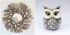 OMG! The stuffed owl is adorable! ! Available on etsy!