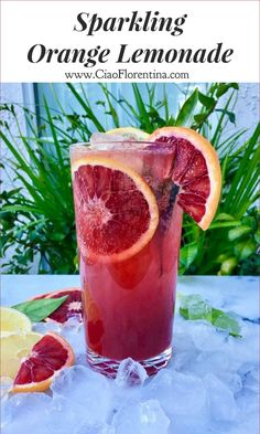 Blood Orange Lemonade  | CiaoFlorentina.com @CiaoFlorentina