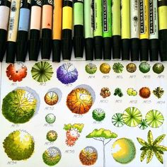 Landscape Architecture with Markers