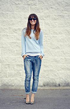 Denim + Sweatshirt