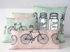 Polštáře a povlaky Lady / Madeforbaby - SAShE. Needlework, Kids Room, Cushions, Throw Pillows, Tote Bag, Handmade, Bags, Design, Embroidery