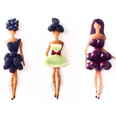 Food art. Berry models.