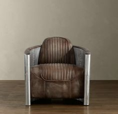 Aviator chair in distressed whiskey.