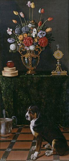 Still Life with Flowers and a Dog (Naturaleza muerta con florero y perro) Juan van der Hamen - 1625 (Spanish, 1596 - 1631)