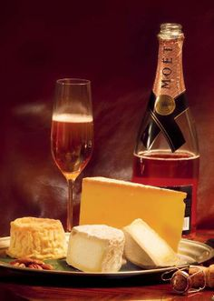 This Valentine's Day, celebrate by the fire next to your loved one with your favorite champagne and cheese.
