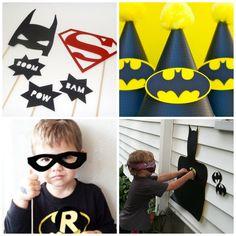 Batman birthday party games decoration invitations LaBelleCarte