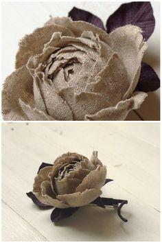 Burlap, hemp, jute - all great materials for flower making.