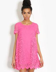 Scalloped Lazer Cut Dress