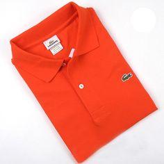 Men's Lacoste Polo  Short Sleeve Shirt Orange     #CheapLacoste #CheapLacosteLongSleeve #Polos #LacostePolos #LacostePoloShirts #StylishLacosteShirts #LacosteForCheap