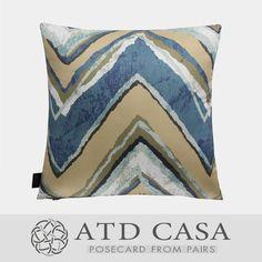 蓝色拼色北欧混搭现代装饰抱枕样板房靠垫几何多色不规则抱枕现货