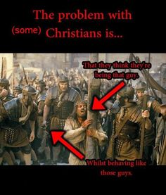 The problem with (some) christians is.