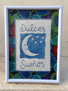 Cute framed textile compositions by Tutuchi. Roots, Cats & Wings is all you need :) Crafted with handmade carved stamps.