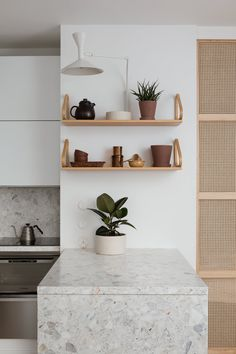 Apartment Interior Design, Interior Design Kitchen, Room Interior, Terrazzo, Bright Kitchens, Home Kitchens, Helsinki, Kitchen Rules, Stylish Kitchen