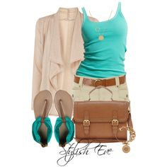 Turquoise & Beige by stylisheve on Polyvore