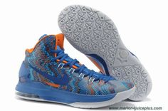 42b339bb43d76 2013 Nike Zoom KD 5 iD Offers New Graphic Pattern Blue Glow Midnight Navy  Shoes For Wholesale