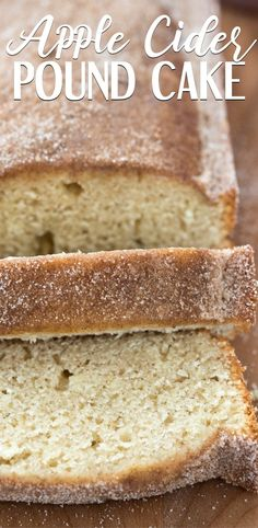 This Apple Cider Pound Cake is fluffy, moist, and tastes like fall! The apple cider and spices add great flavor, and the cinnamon sugar gives a crunch. It's like an apple cider doughnut in cake form! Easy Loaf Cake Recipe, Best Pound Cake Recipe, Pound Cake Glaze, Pound Cake Recipes, Bread Recipes, Best Apple Cider, Almond Pound Cakes, Make Simple Syrup, Dog Cakes