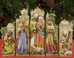 Interesting Nativity Set. Has more of a traditional look to it with a twist.