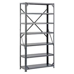 30 In. W X 60 In. H X 12 In. D Steel Canning Shelving Unit