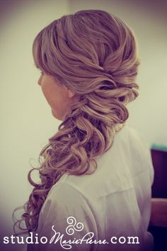 Off to the side bridal updo. ome Of My Recent Bridal Updos Key West Brides Have Worn