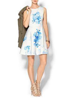 Floral Scuba Dress Product Image