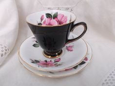 Vintage Old Royal bone china cup saucer and by Collectablesgalore, £8.75