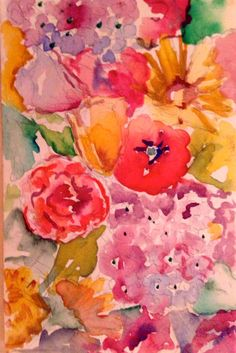 """""""Flowers for the Bride"""" watercolor by KExiner Exiner Art Studio"""
