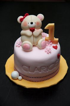 Cute first birthday cake...perfect for a first b-day!