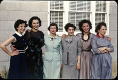 More fantastic 1950s outfits on these ladies. https://flic.kr/p/79kxmG | 1950(s) Family & Friends