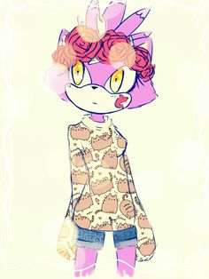 #____ by Erraza on DeviantArt<<looks like Amy would have used her Instagram filters on Blaze when she wasn't looking :3